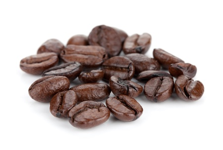 coffe beans: Coffee beans. Isolated on white background Stock Photo