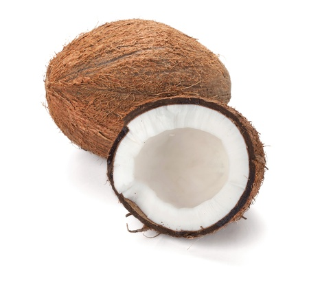coconut milk: Coconut  Isolated on white background