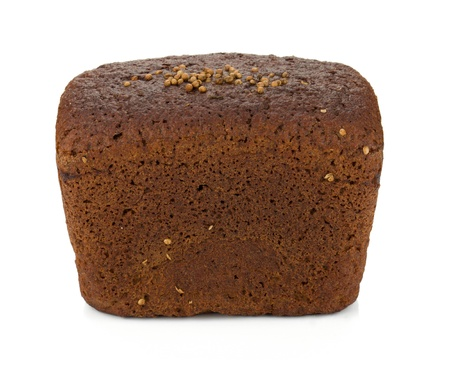 crust crusty: Brown bread. Isolated on white background
