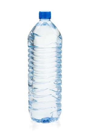still water: Soda water bottle. Isolated on white background