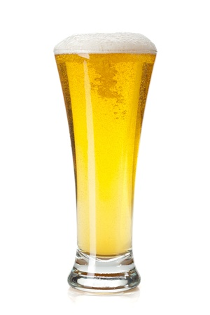Lager beer glass. Isolated on white background Stock Photo - 14823303