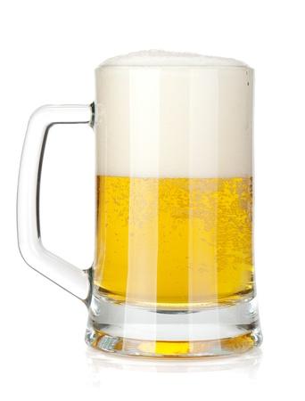 Beer mug  Isolated on white background Stock Photo - 14893854