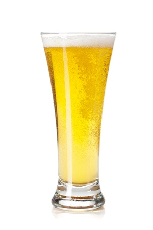 Beer glass. Isolated on white background Stock Photo - 15158431