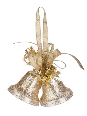 campanas: Campanas de Navidad decoración. Aislado sobre fondo blanco
