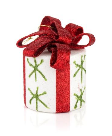 light box: Christmas decor. Isolated on white background Stock Photo