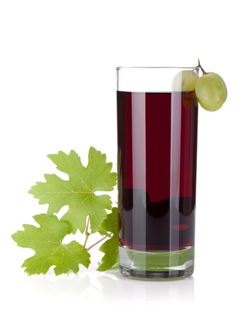 Glass of grape juice. Isolated on white background Stock Photo