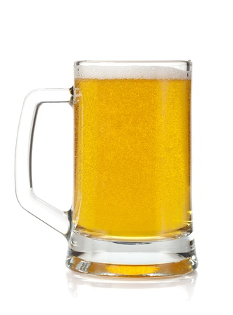 Beer mug  Isolated on white background photo