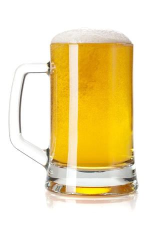 Beer mug. Isolated on white background Stock Photo - 15788114