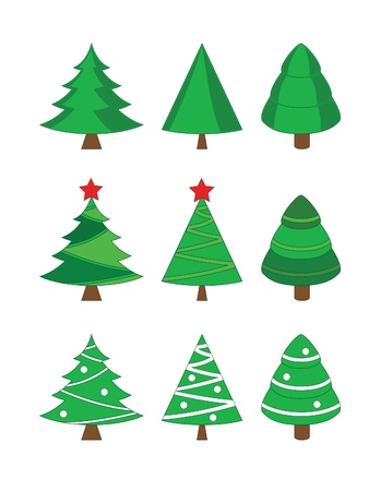 fir tree balls: Christmas fir trees collection
