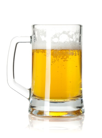 Beer mug. Isolated on white background Stock Photo - 16413579