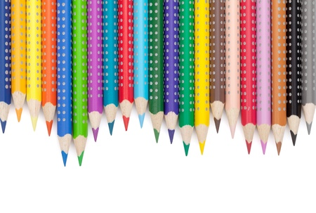 Various colour pencils. Isolated on white background Stock Photo - 16413562
