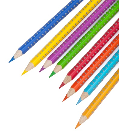 Various colour pencils  Isolated on white background Stock Photo - 16813925