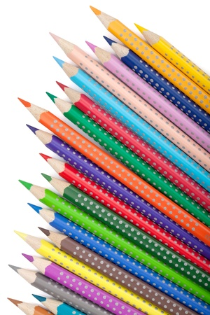 Various colorful pencils. Isolated on white background Stock Photo - 17280823