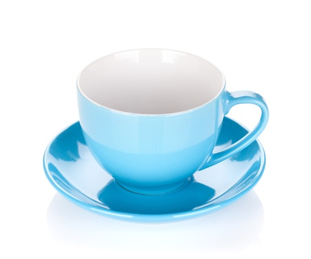 Blue coffee cup. Isolated on white background Stock Photo - 17280644