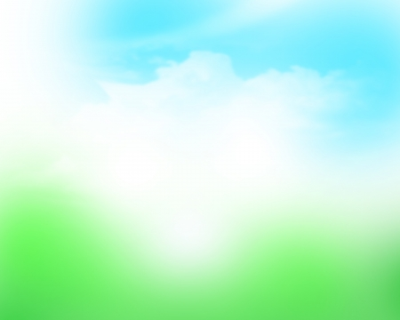 spring background: Sunny sky blurred bokeh abstract background