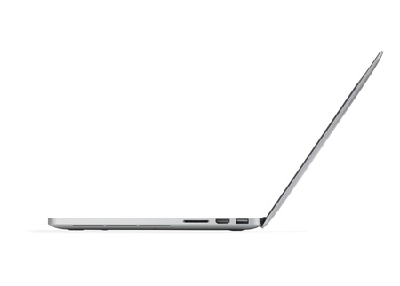 side keys: Laptop. Side view. Isolated on white background