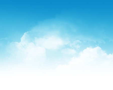 Cloudy blue sky abstract background photo