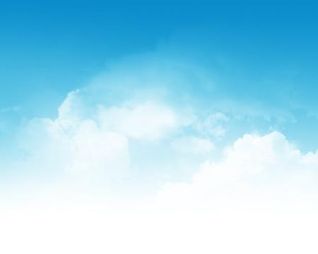 modrý: Cloudy modrá obloha pozadí abstraktní