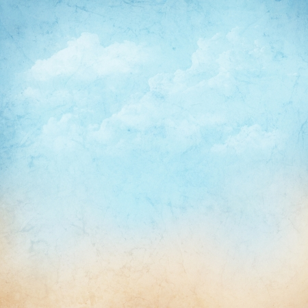 Vintage abstract nature sky with clouds background photo