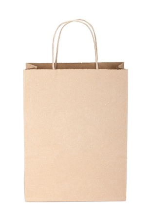 recycle bag: Shopping paper bag. Isolated on white background