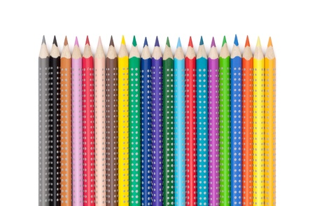 Various colorful pencils. Isolated on white background Stock Photo - 18375469
