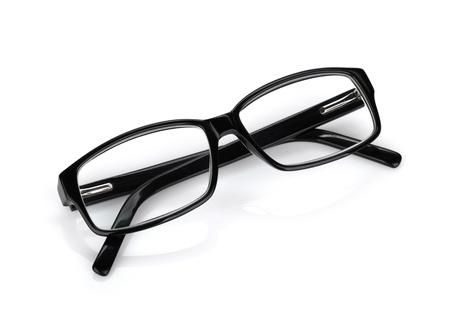 nerd glasses: Glasses. Isolated on white background Stock Photo