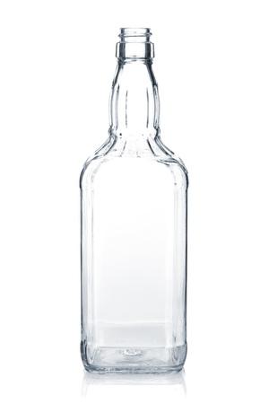 whisky bottle: Empty whiskey bottle  Isolated on white background