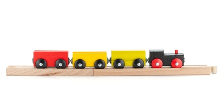 toy train: Wooden toy train. Isolated on white background