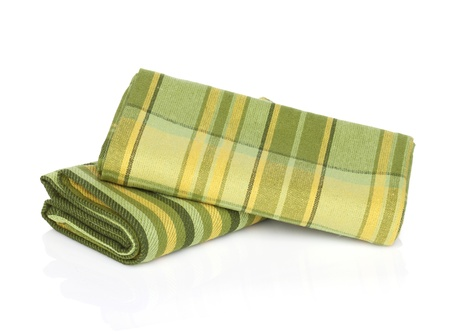 dishcloth: Kitchen towels. Isolated on white background Stock Photo