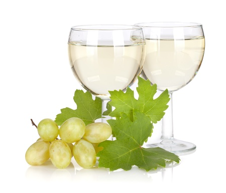Grape juice. Isolated on white background photo