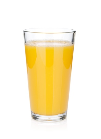 orange juice: Orange juice glass. Isolated on white background