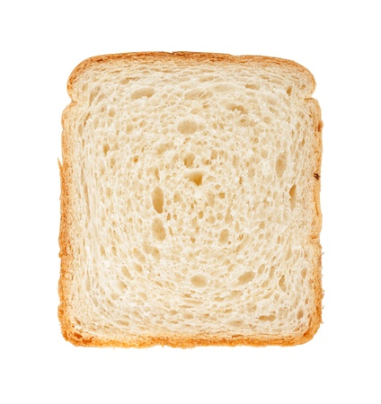 wheat toast: White bread slice. Isolated on white background Stock Photo