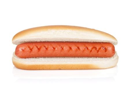 hotdog sandwiches: Original hot dog. Isolated on white background