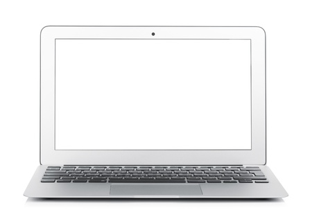 Netbook with white blank screen. Isolated on white background Stock Photo - 19686543