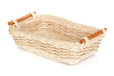 Fruit basket. Isolated on white background Stock Photo - 19896159