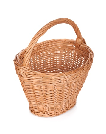 Empty basket. Isolated on white background photo