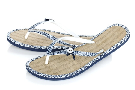 flops: Pair of flip-flops. Isolated on white background