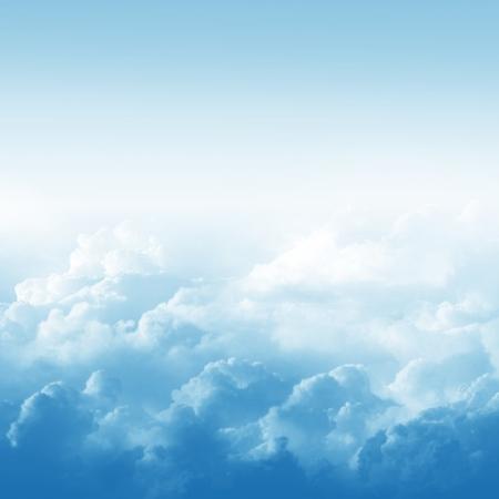 Bleu ciel et les nuages ??illustration abstraite Banque d'images - 20837176