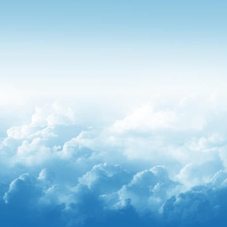 cloud cover: Blue sky and clouds abstract illustration