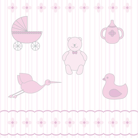 Baby various toys set Stock Vector - 21297220