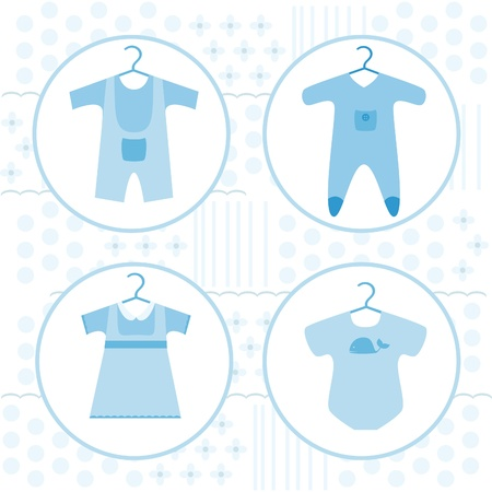 stuff toys: Baby various clothing set Illustration