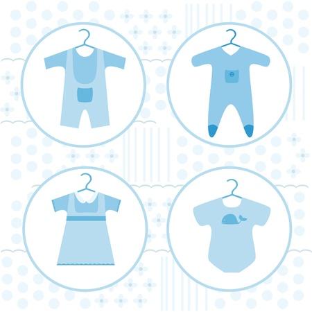 babero: Bebé diferentes de la ropa Vectores