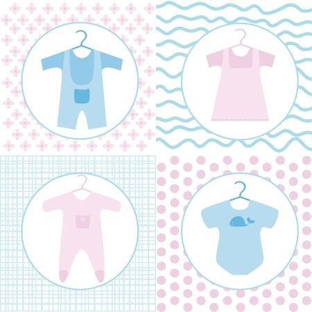 bib: Baby various clothing set Illustration