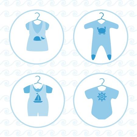 赤ちゃんの様々 な服を設定