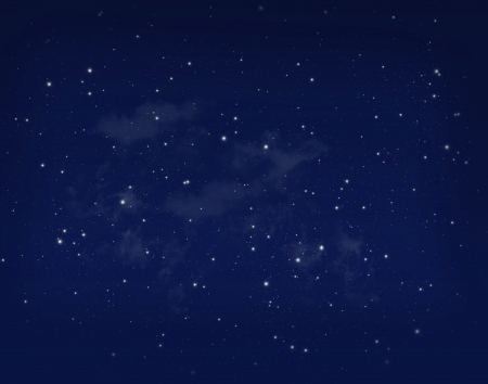 Stars in a night blue sky background photo