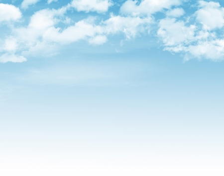 Blue sky with clouds background photo