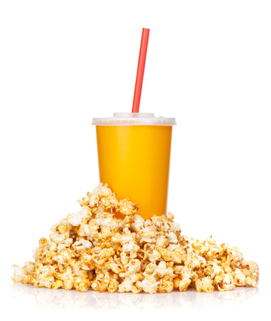 Popcorn and fast food drink. photo