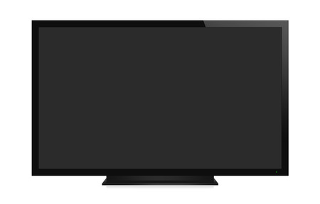 big screen tv: TV display with blank screen. Isolated on white background Stock Photo