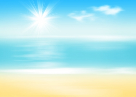 sunny beach: Beach and sea with sunny sky abstract