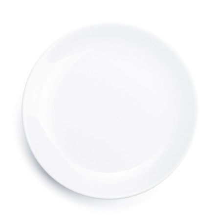 Empty plate. Isolated on white background